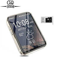 AEKU i5S Super Mini pequeño teléfono móvil Pantalla de 2,2 pulgadas deporte podómetro reloj Bluetooth gsm desbloqueado teléfonos MP4 MP3 móvil teléfono