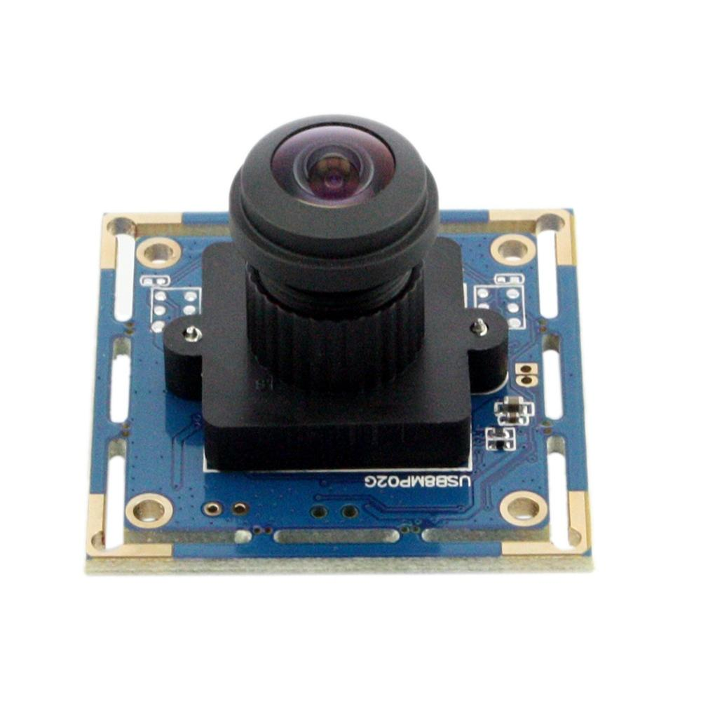 ELP USB Camera 8Megapixel SONY IMX179 Sensor Mini Wide Angle USB Board Cam 180degree Fisheye lens Industrial Camera Module 8MP цена 2017