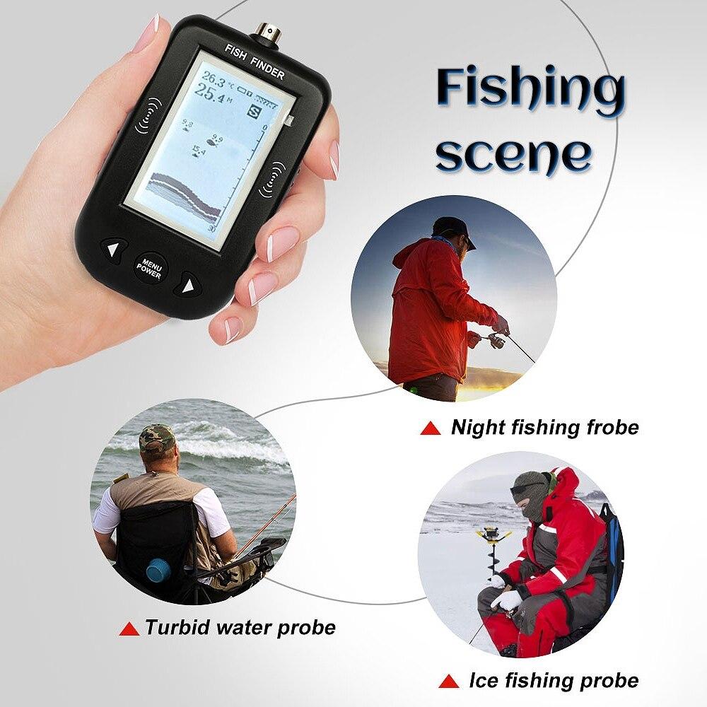 sonar inventor de peixes profundidade 100 m