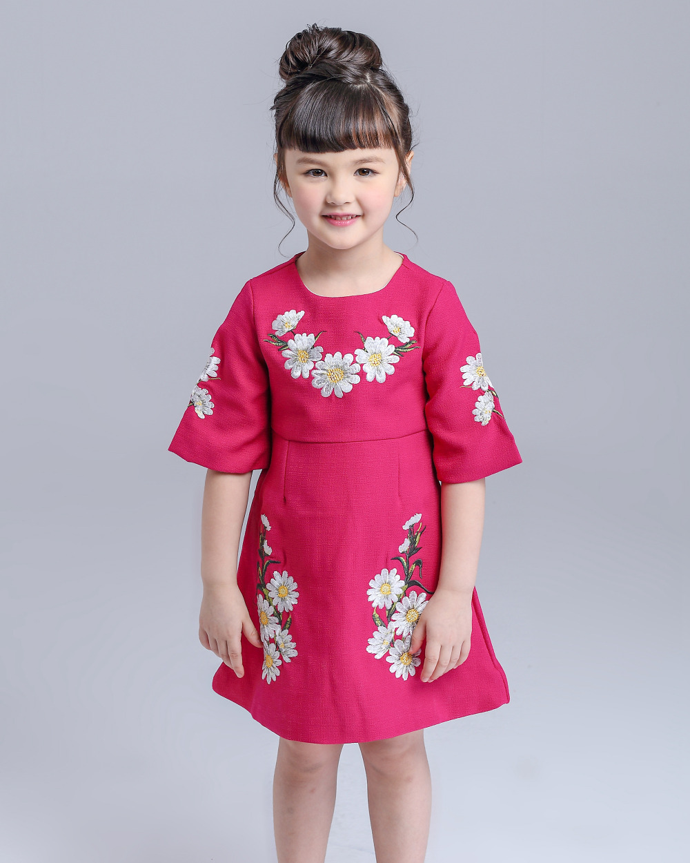 ツ)_/¯Nueva Niñas vestido princesa traje 2016 marca niños vestido ...