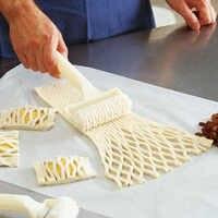 1 Pza herramienta de plástico para hornear Rueda de la red cuchillo para pizza enrejado de pasteles cortador de rodillos para masa galletas pastel artesanía accesorios de cocina