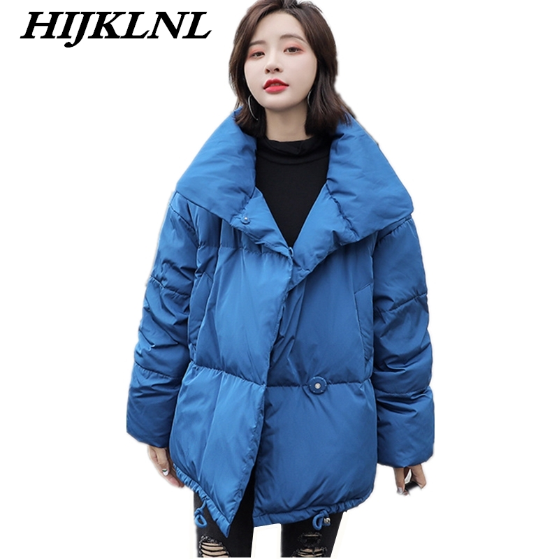 2019 New Hot Women Winter   Down     Coat   Loose Large Size Fat Solid Short   Down   Jacket Women Thicken   Coat   Fashion Warm Outerwear CW065