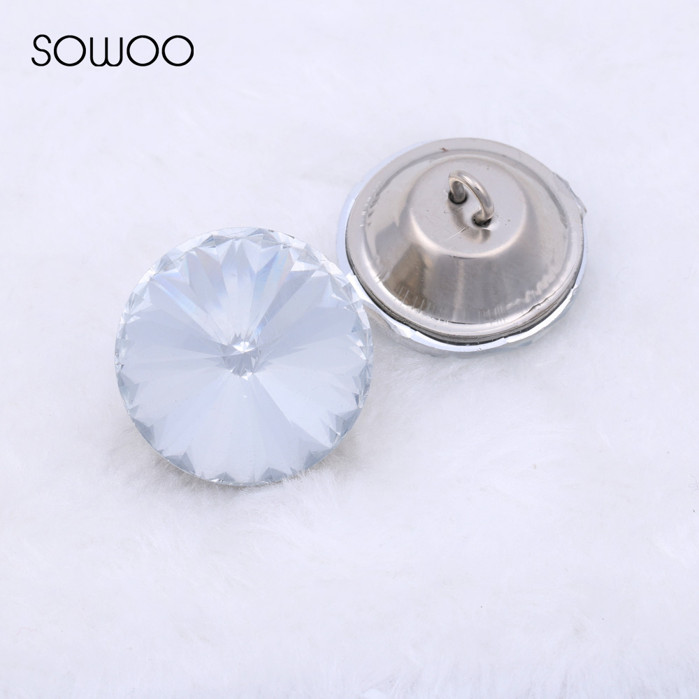 Sewing Sofa Buttons /pull Button Or Diy Decorations. Enthusiastic Free Shipping 50pcs/lot 20mm Satellite Crystal Buttons Glass Buttons