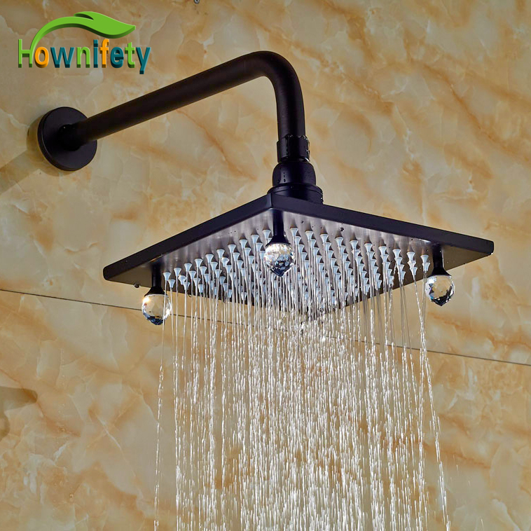Wall Mounted Oil Rubbed Broze Shower Head With Arm Bathroom Shower Sprayer newly design oil rubbed broze tooth brush holder 2 ceramic cups wall mounted