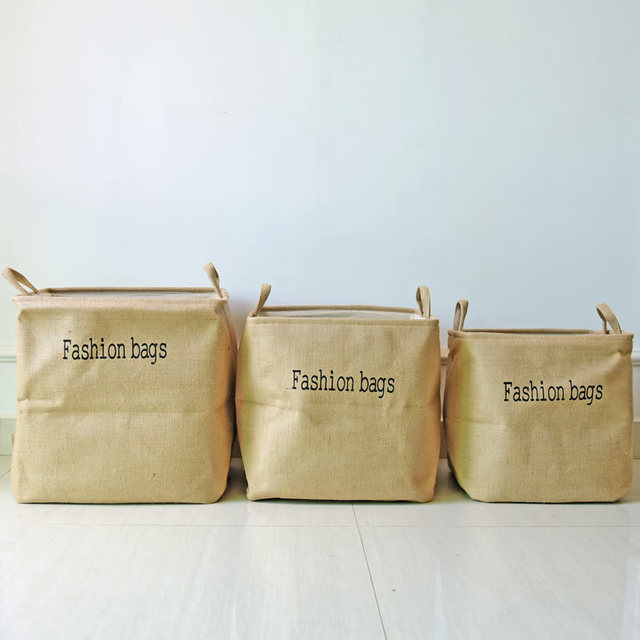Laundry Bags With Handles Enchanting Fashion Bag Jute Hanging Storage Bag Baby Kids Toy Clothes Laundry