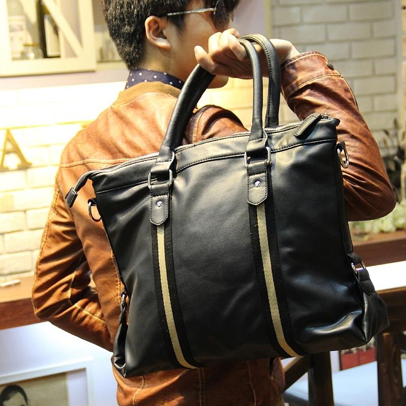 Xiao.P Fashion Brand Men Large Business Handbags Casual Travel PU Leather Bag Laptop Messenger Shoulder Bag