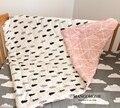 Bebé edredón 1 unids bebé verano edredón de aire acondicionado manta de nubes copa del árbol estrella diseño de la raya de cama de bebé cuna bedding conjunto