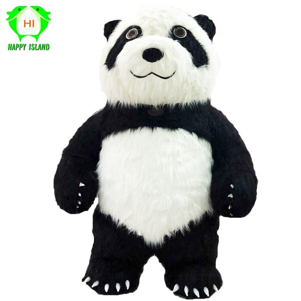 Новый стиль 2,6 м высокие китайские панды надувные костюмы для Хэллоуина Костюм для косплея для 1,6 M 1,85 M взрослых
