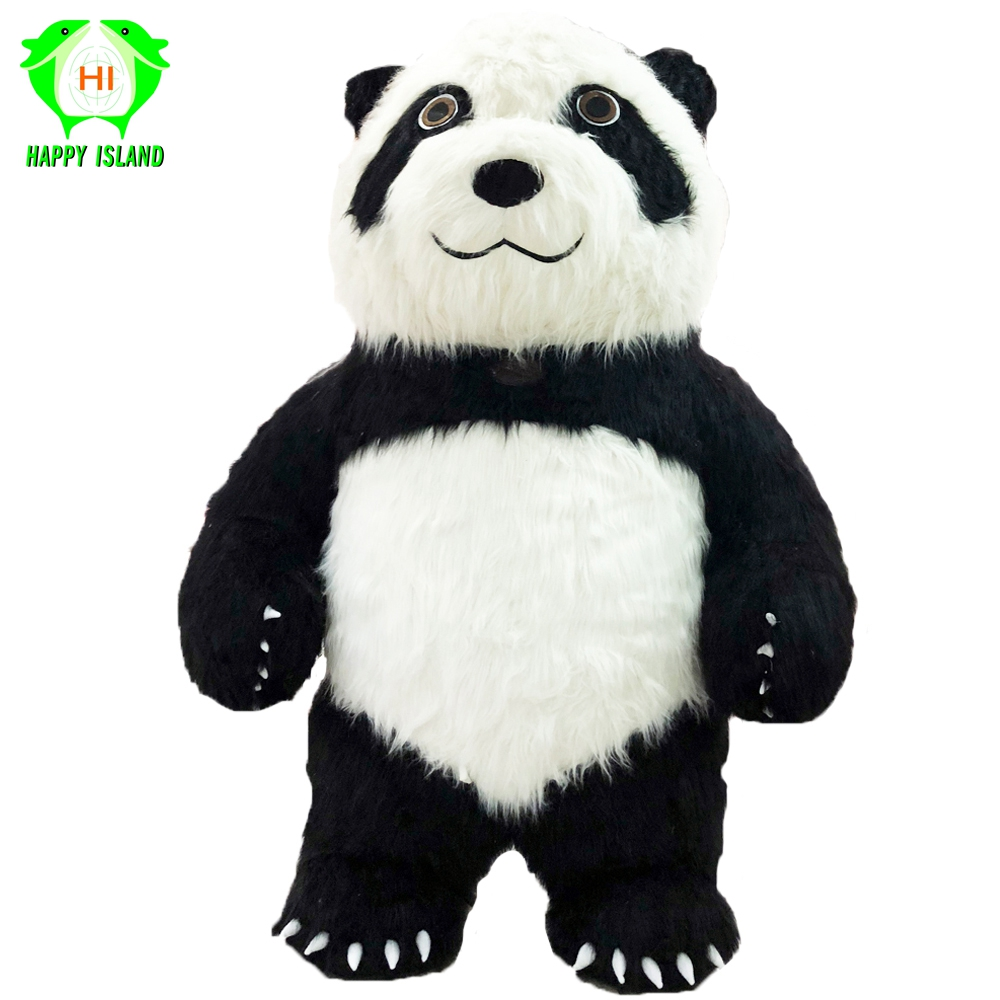 New Style 2.6 M Tall Chinese Panda Inflatable Costumes Halloween Party Cosplay Costume Customize for 1.6M - 1.85M Adult