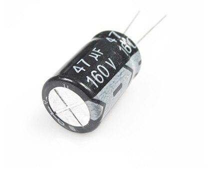 Gratis Verzending 100Pcs 160V 47Uf 47Uf 160V 10*20Mm Elektrolytische Condensatoren Beste Kwaliteit nieuwe Ori