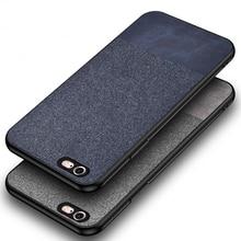 Cotton Cloth Cover,Case For iPhone 6 6S Plus 6Plus Soft Sili