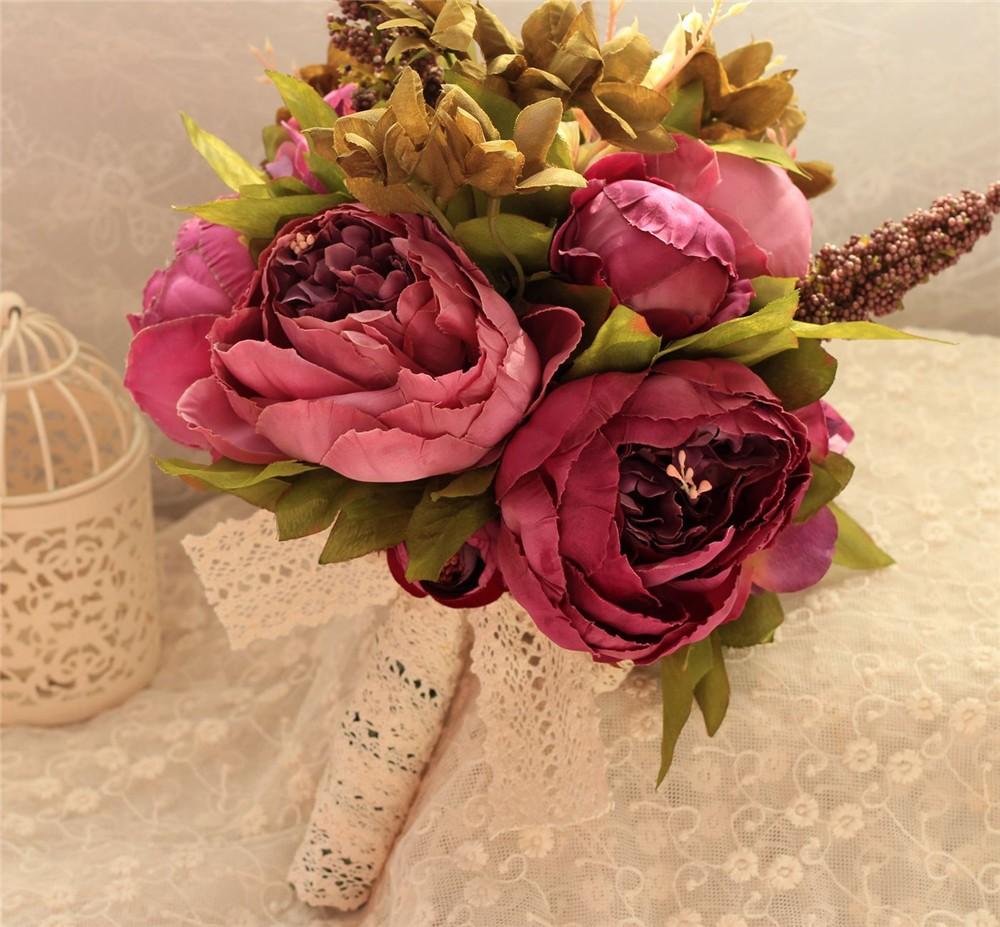 Artificial flower Wedding Bouquet Bouquet Bridal Bouquet Bridesmaid Wedding Decoration Event Party Supplies buques de noivas (12)