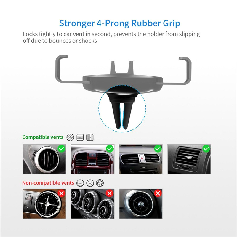 Car Phone Holder Universal Air Vent Mount Clip Cell Holder For Phone In Car No Magnetic Mobile Phone Stand Holder Smartphone in Phone Holders Stands from Cellphones Telecommunications