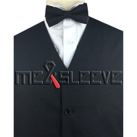 Hot Sale Top Quality Wool Fabric Custom Made Stripe Tuxedo Waistcoat Set