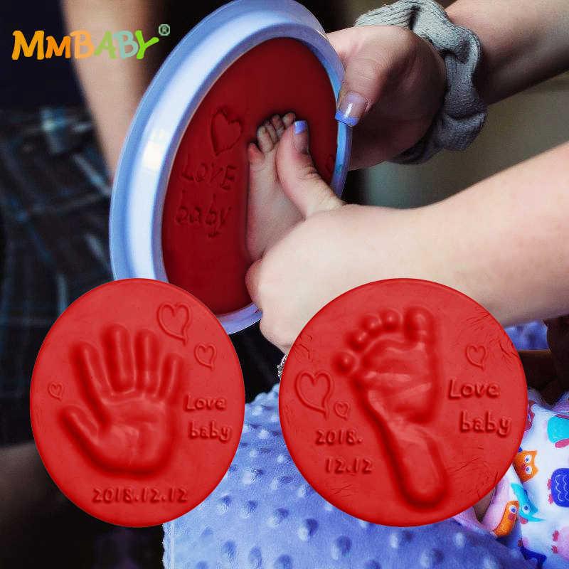 MMBABY отпечаток литья родитель-ребенок рука подушечка с чернилами для отпечатков воздуха рук ног Inkpad сушки мягкой глины отпечаток руки ребенка след 2019