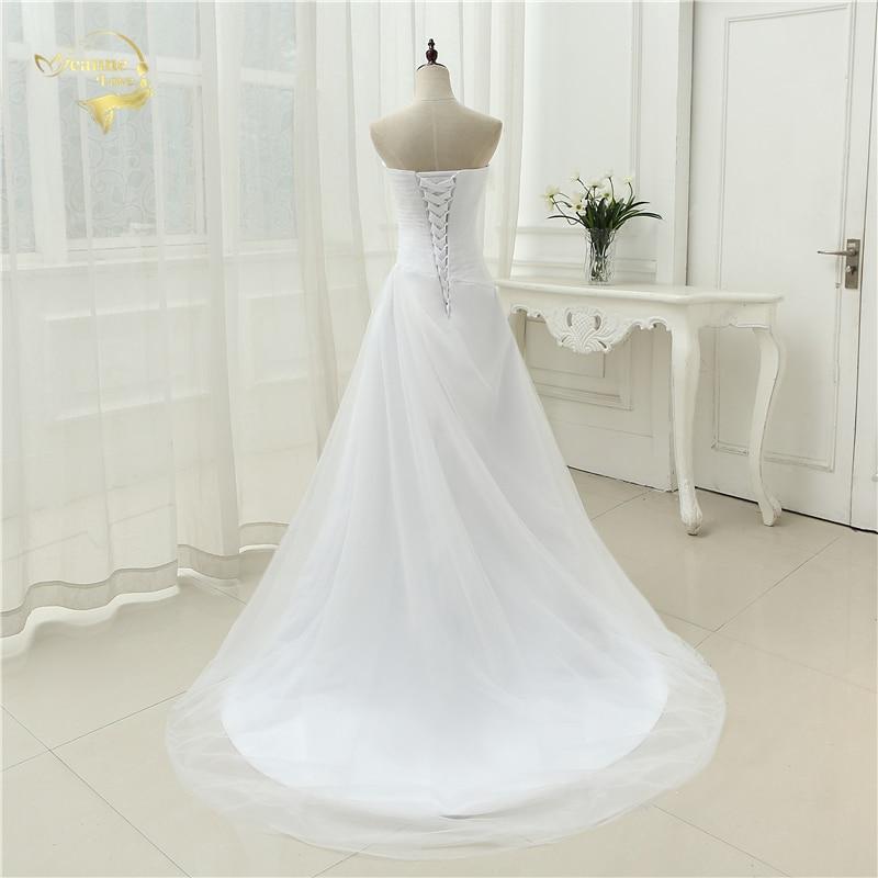 New Arrival 2019 Wedding Dresses Sweetheart A Line Rhinestone Beading Bridal Gown Vestidos de Novia Plus Size Lace Up 5981982