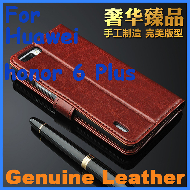 the best attitude 3f9a6 28361 US $9.99 |Genuine Leather Case High Quality Huawei honor 6 Plus Leather  Case Flip Cover for honor6 Plus Case Business Wallet Style Cover-in Flip  Cases ...