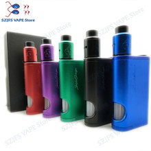 NEWEST 528 Custom goon Driptech-DS BF box kit 2*18650 batteries in parallel Aluminum 2*10ml Vaporizer Mod e-cigarette KIT