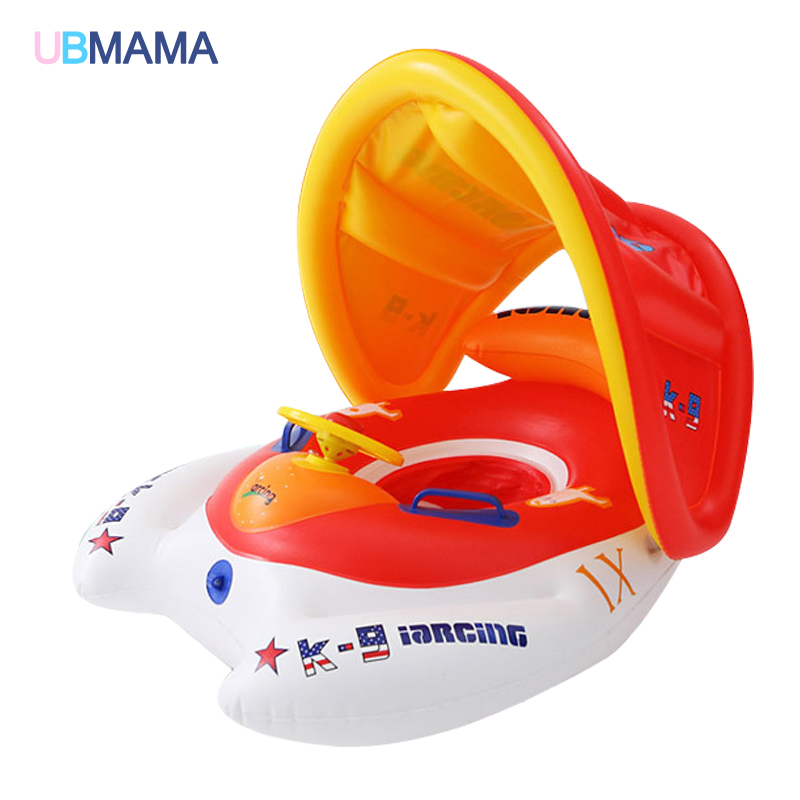 2016 safety baby infant swimming float inflatable adjustable sunshade seat boat ring swim pool 3 month old baby swimming pool