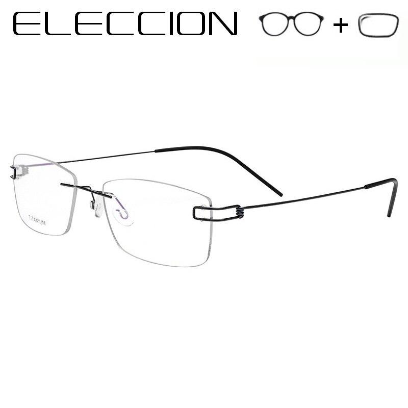 Aktiv Eleccion Titan Schraubenlose Brillen Brillen Optische Rahmen Männer Brillen Asphärische Myopie Brillen Frauen Koreanische Korrektionsbrillen
