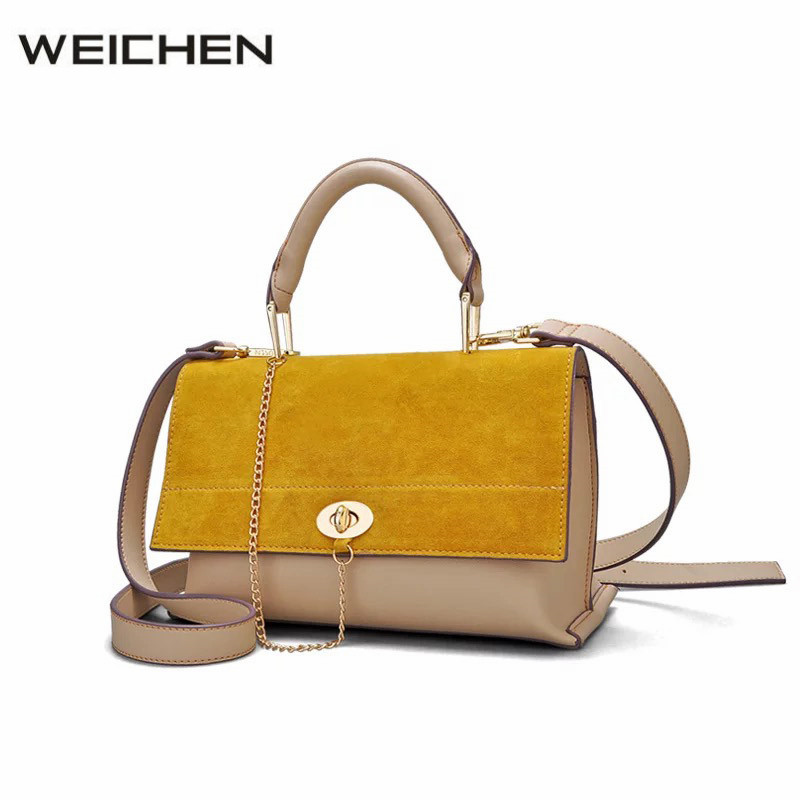 Yellow Suede Bag Women Luxury 2017 Fashion Chain Leather Designer Handbags High Quality Tote Female Shoulder Bags Ladies Handbag high quality shoulder bags designer 2017 handbag ladies small chain shoulder bags women bag bolsas fashion women s handbags page 3