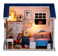 Doll House Model Building Kits Handmade Miniature With Light And Furniture Wooden Dollhouse Toy Christmas Birthday Greative Gift