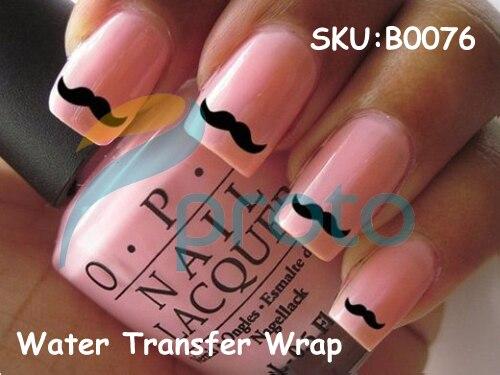 3PCS Fashion Nail Wrap Water Transfer Nail Art Sticker Moustache Design Nail Decorations Dropshipping [Retail] SKU:B0076