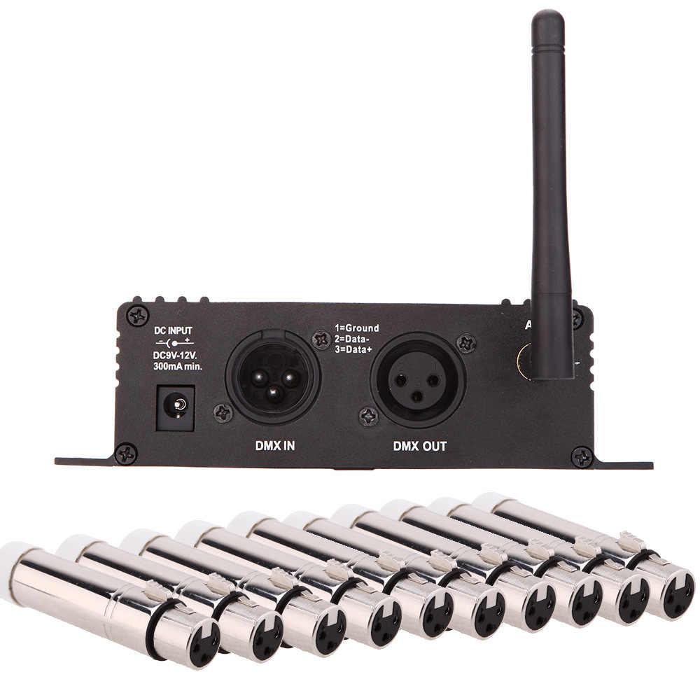 2.4G Wireless Dmx 512 Controller Trasmettitore Ricevitore Display Lcd Controller Dmx Ripetitore Della Discoteca Della Luce Par del Led di Controllo Della Luce