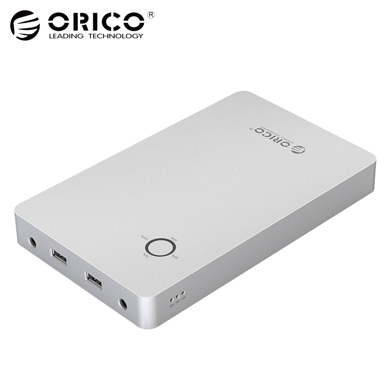 ORICO 28800mAh Notebook Power Bank Aluminum Alloy Dual USB Output One DC 12 16 19V Port