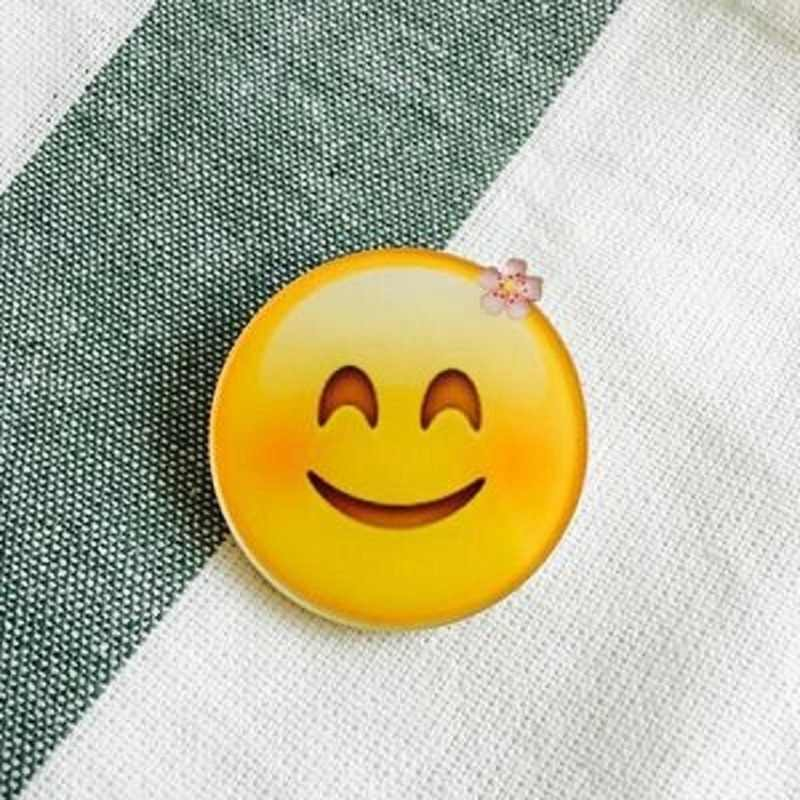 Mode Rendah Harga Wajah Tersenyum dengan Harga Murah Broochs Harajuku Indah Liar Kartun Acrylic Bros untuk Perhiasan Aksesoris Wanita Gadis Hadiah