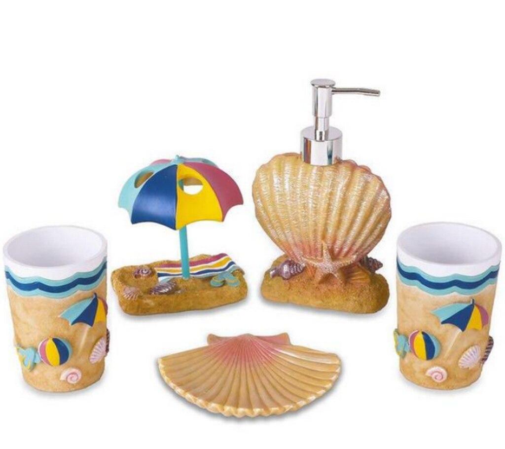 5 pièces résine salle de bains accessoires européens et américains maison hôtel fournitures porte-brosse à dents Lotion distributeur savon comme cadeau LFB282