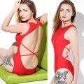 EUA Hot Bodysuit muito Sexy marca One Pieces swimsuit backless mulheres seios sexy sports swimsuit branco preto vermelho fotos Reais