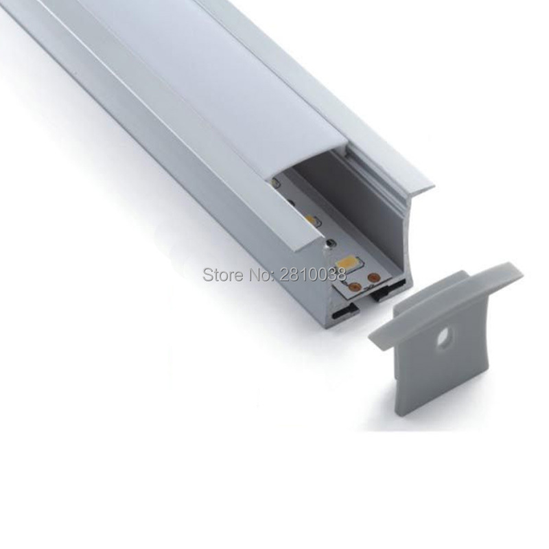 100 x conjuntos de 2 m lot recesso perfil de aluminio conduziu a luz e t