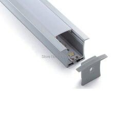 100x2 м наборы/партия утопленный светодиодный светильник алюминиевый