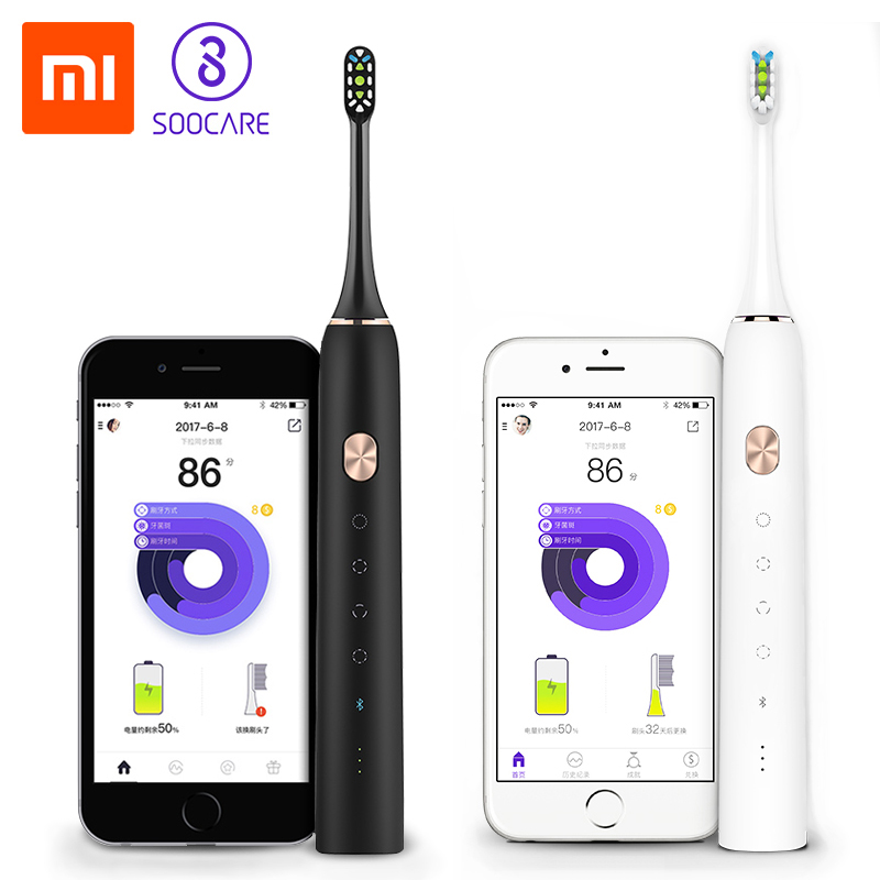 Xiaomi Mijia Soocare X3 Soocas Upgraded Electric Sonic Smart Clean Bluetooth Waterproof Wireless Charge Remote APP Control soocas x3 sonic electric toothbrush