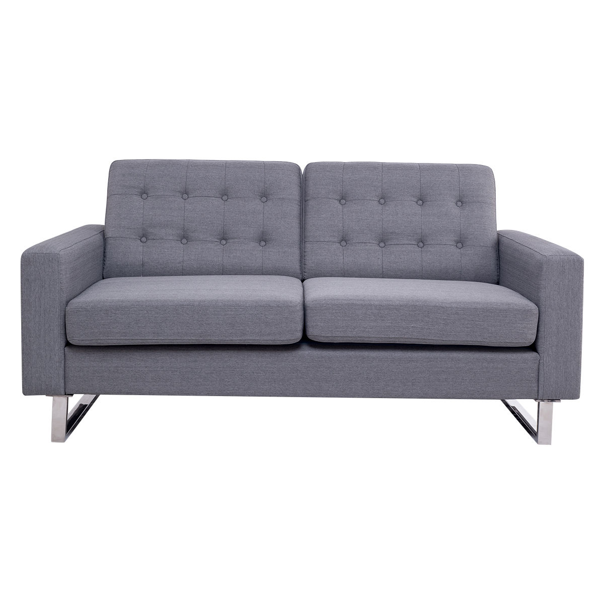 Giantex 2 Seat Sofa Couch Home Office Modern Loveseat Fabric Upholstered  Tufted Luxury Sofas Living Room Furniture HW56261 In Living Room Sofas From  ...