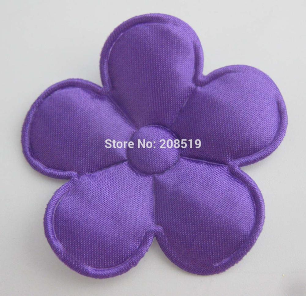 PANVGG 47 мм Цветочные аппликации 12 видов цветов DIY Скрапбукинг Цветочные нашивки 120 шт. головные уборы цветочный орнамент войлочный - Цвет: purple 47mm