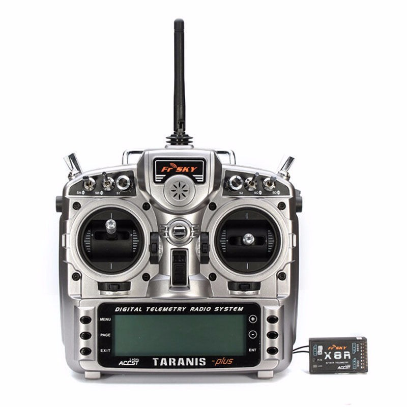 FrSky TARANIS X9D PLUS 2.4G 16ch Digital Telemetry Transmitter Radio System With X8R Receiver free shipping frsky 2 4ghz accst taranis x9d plus digital telemetry transmitter radio system set receiver x8r neck strap adapter
