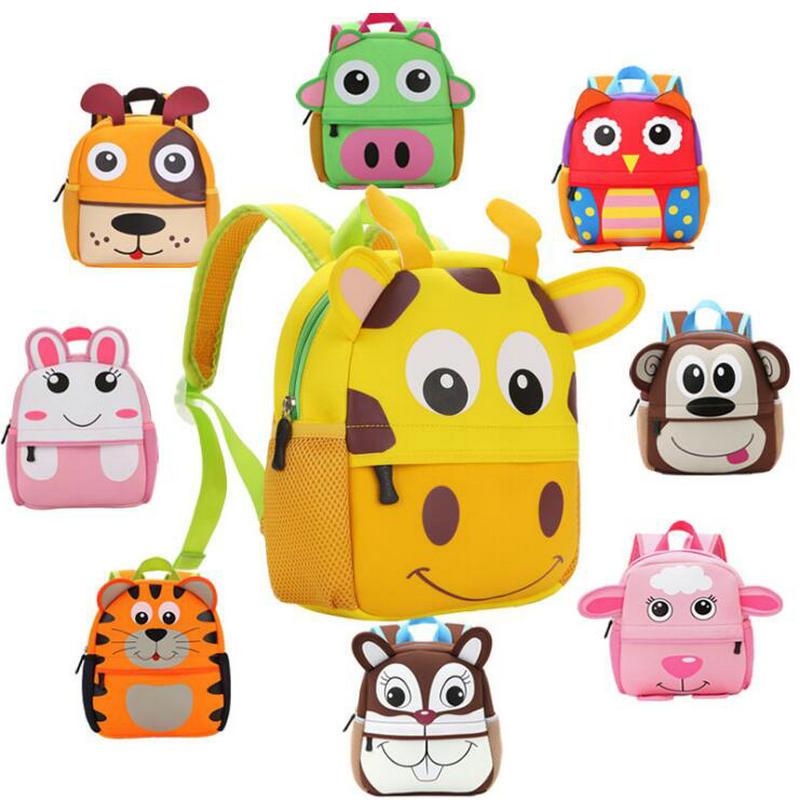 Hot Sale Cute Cartoon Kid Toddler School Bags Backpack Kindergarten Schoolbag 3D Cartoon Animal Bag For Boys Girls
