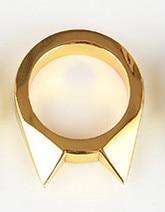 1 шт., женское и мужское безопасное кольцо для выживания, инструмент для самозащиты, кольцо из нержавеющей стали, кольцо для защиты пальцев, инструмент, серебро, золото, черный цвет - Цвет: Золотой