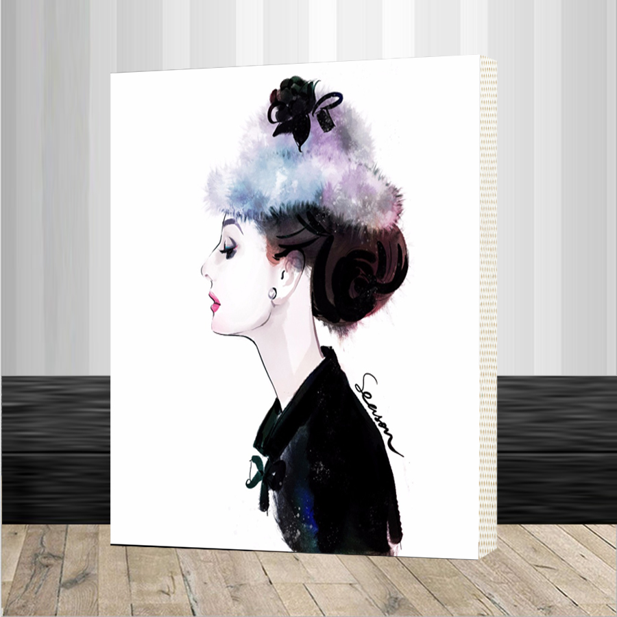 Framed Wall Decor Pictures Painting By Numbers Hand Painted On Canvas Painting Audrey Hepburn Modern Abstract Oil Painting