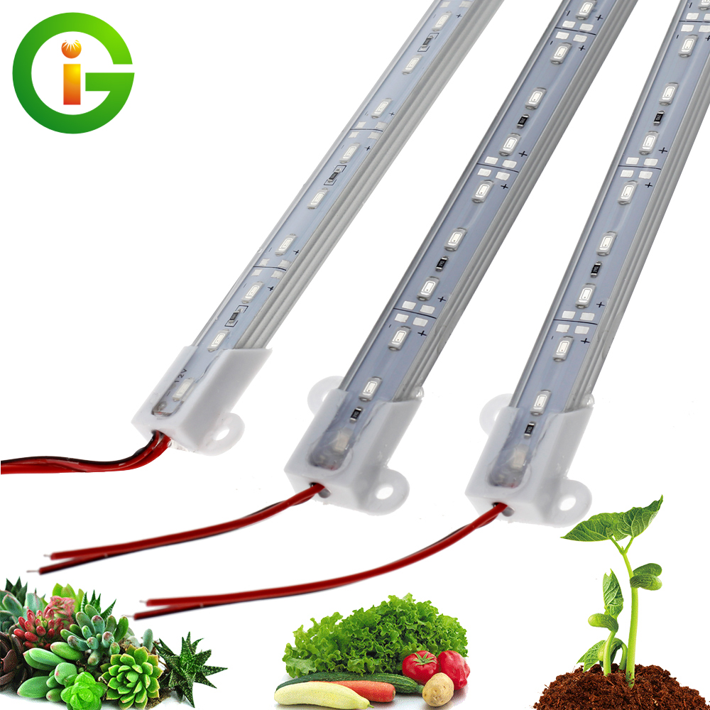 DC12V LED Grow Lights IP68 Waterproof 5730 LED Rigid Strip Safe Growing Lamps For Aquarium Greenhouse Plant Seedling 5pcs/lot