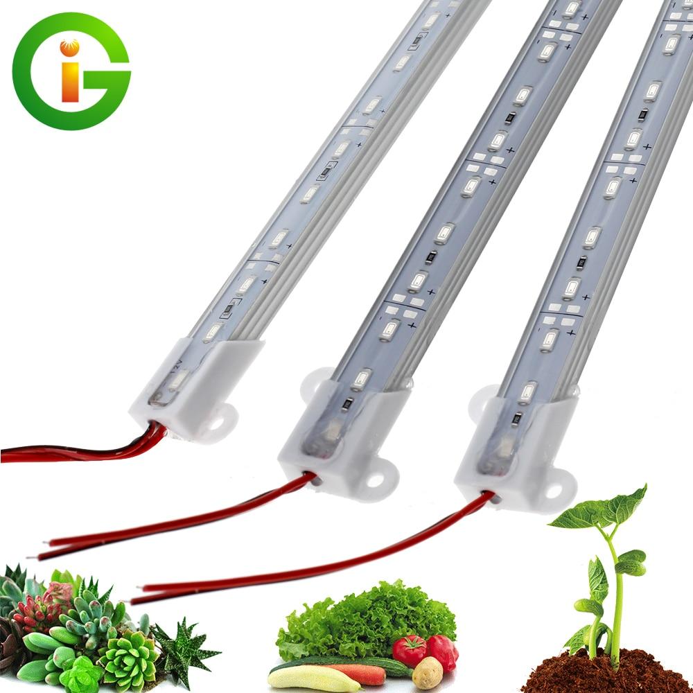 DC12V LED Grow Lights IP68 Waterproof 5730 LED Rigid Strip Safe Growing Lamps For Aquarium Greenhouse Plant Seedling 5pcs/lot