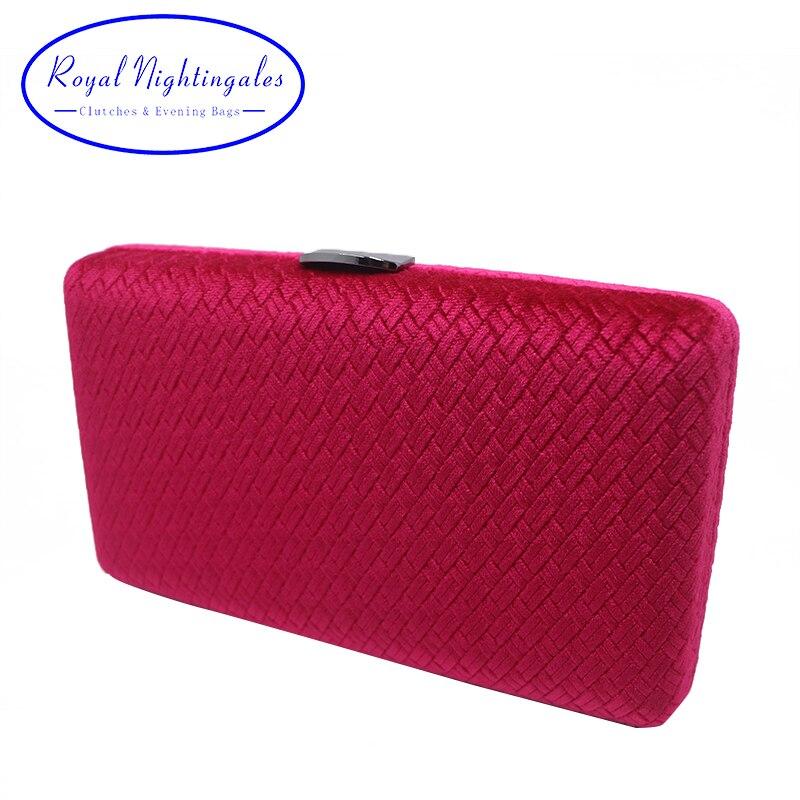 Neueste Kollektion Von Royal Nightingales Weben Samt Wildleder Box Clutch Abend Taschen Und Handtaschen Für Frauen Rot/schwarz Bequem Zu Kochen