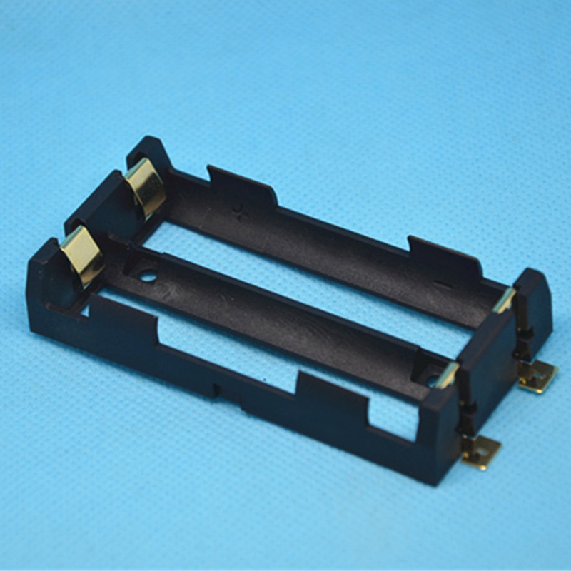 1Pcs High Quality For 2 X 18650 Battery Holder With Bronze Pins Battery Storage Box стоимость