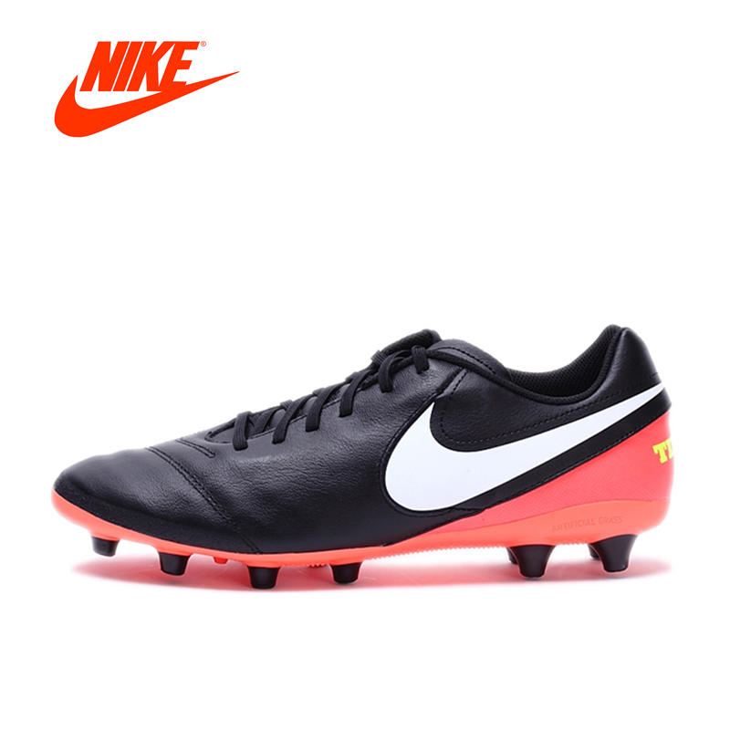 Original NIKE New Arrival TIEMPO GENIO II LEATHER AG-PRO Men's Football Shoes Soccer Shoes Sneakers nike nike tiempo genio leather fg