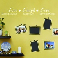 Live Laugh Love Family Vinyl Wall Lettering Warming Quote Decals Photo Wall Decal 58 X 8