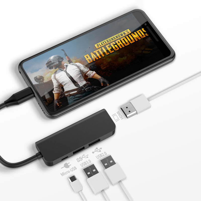 USB C HUB Type-C To 4K HDMI USB 3.0 2.0 Micro USB Power Adapter For Macbook Pro Samsung Galaxy S10 S9 S8 Plus Huawei P30 P20 Pro