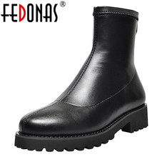 FEDONAS Autumn Winter Microfiber Leather Flock Women Ankle Boots Slip On Socks Boots Warm Short Boots Party Office Shoes Woman