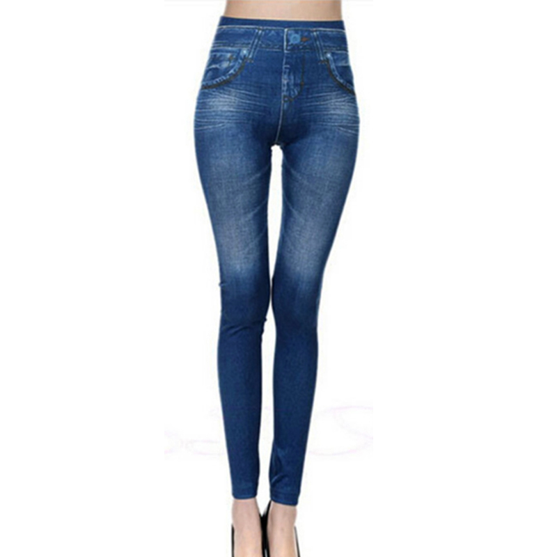 2017 New Fashion Jeans Women Pencil Pants High Waist Jeans Sexy Slim Elastic Skinny Pants Trousers Fit Lady dropshipping 2017 summer autumn women skinny jeans high waist blue elastic long slim pencil pants trousers